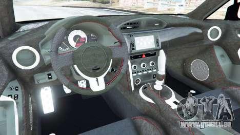 GTA 5 Toyota GT-86 Rocket Bunny v1.1 arrière droit vue de côté