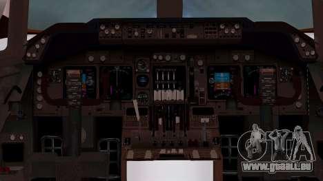 Boeing 747-100 British Overseas Airways pour GTA San Andreas vue intérieure