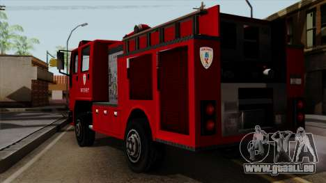 DFT-30 Tokyo Fire Department Pumper pour GTA San Andreas laissé vue