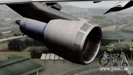 Boeing 747-200 Air France pour GTA San Andreas vue de droite
