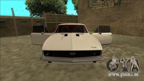 Chevrolet Camaro SS Drift pour GTA San Andreas vue intérieure