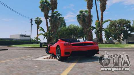GTA 5 Ferrari Enzo v0.5 arrière vue latérale gauche
