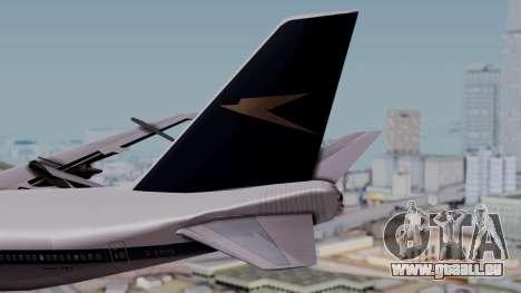 Boeing 747-100 British Overseas Airways für GTA San Andreas zurück linke Ansicht