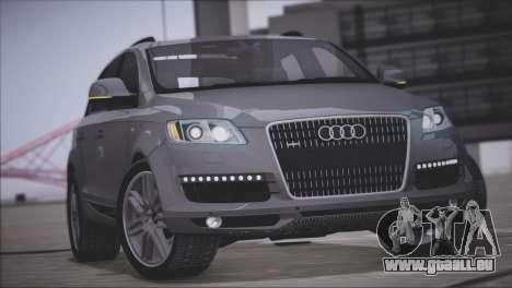 Audi Q7 2008 pour GTA San Andreas vue intérieure
