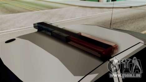 Ford Crown Victoria LP v2 Sheriff pour GTA San Andreas sur la vue arrière gauche