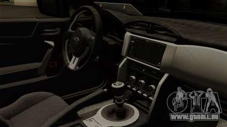 Subaru BRZ 2010 pour GTA San Andreas vue de droite