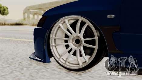 Mitsubishi Lancer Evolution v2 pour GTA San Andreas sur la vue arrière gauche