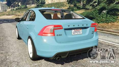 GTA 5 Volvo S60 [Beta] arrière vue latérale gauche