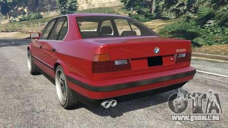 GTA 5 BMW 535i (E34) arrière vue latérale gauche