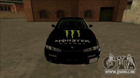 Nissan 200SX Drift Monster Energy Falken für GTA San Andreas obere Ansicht