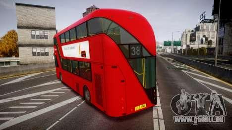 Wrightbus New Routemaster Arriva pour GTA 4 Vue arrière de la gauche