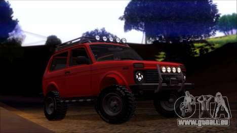 VAZ Niva 2121 Offroad pour GTA San Andreas sur la vue arrière gauche