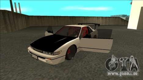 Nissan Silvia S13 Drift für GTA San Andreas Rückansicht