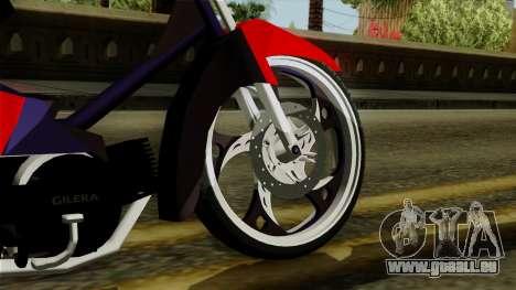Gilera Smash pour GTA San Andreas sur la vue arrière gauche