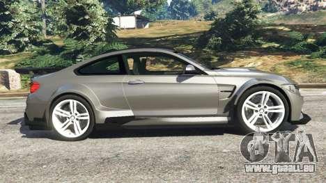 GTA 5 BMW M4 F82 WideBody vue latérale gauche