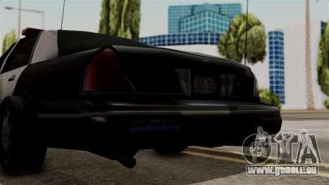 Ford Crown Victoria LP v2 LSPD pour GTA San Andreas vue de droite