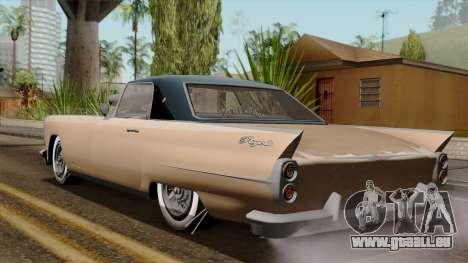 Vapid Peyote Bel-Air pour GTA San Andreas laissé vue