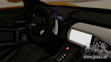Ford GT 2016 Black Revel pour GTA San Andreas sur la vue arrière gauche
