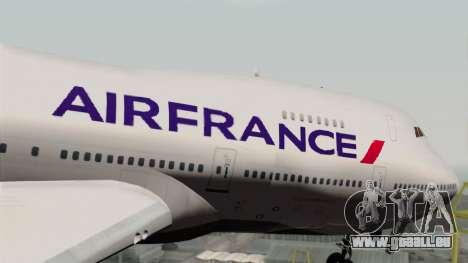 Boeing 747-200 Air France pour GTA San Andreas vue arrière