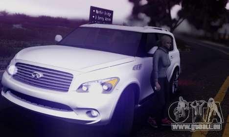 Infiniti QX56 Final pour GTA San Andreas vue intérieure