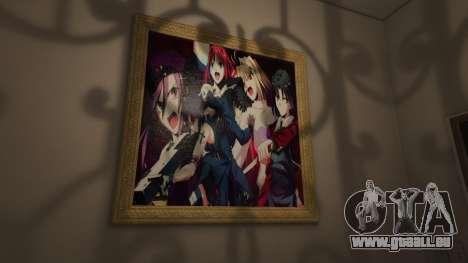 GTA 5 Anime des affiches pour la maison Michael cinquième capture d'écran