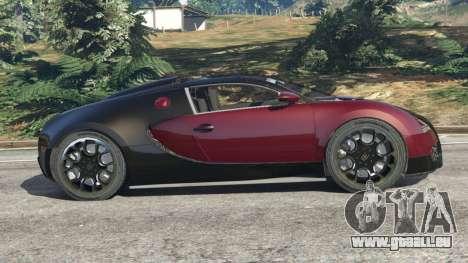 GTA 5 Bugatti Veyron Grand Sport v4.1 vue latérale gauche