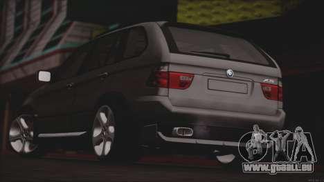 BMW X5 E53 pour GTA San Andreas vue de droite