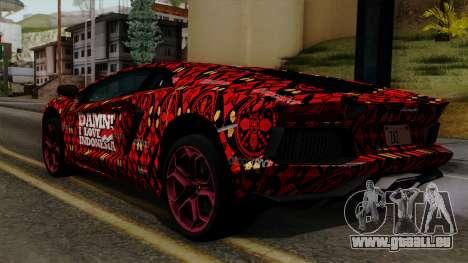 Lamborghini Aventador LP-700 Batik für GTA San Andreas linke Ansicht