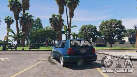 GTA 5 Volkswagen Golf MK3 GTi hinten links Seitenansicht