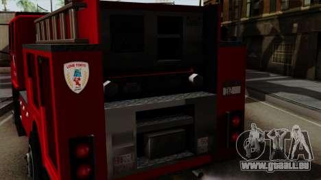 DFT-30 Tokyo Fire Department Pumper pour GTA San Andreas vue de droite