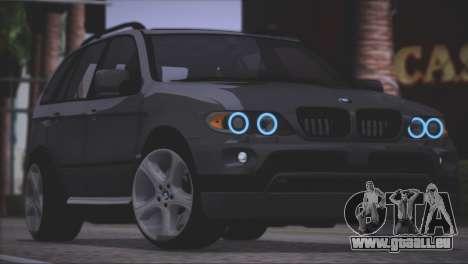 BMW X5 E53 pour GTA San Andreas vue de côté