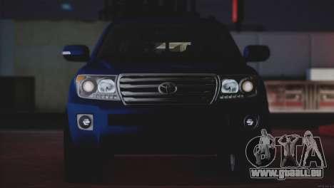 Toyota Land Cruiser 200 für GTA San Andreas Unteransicht