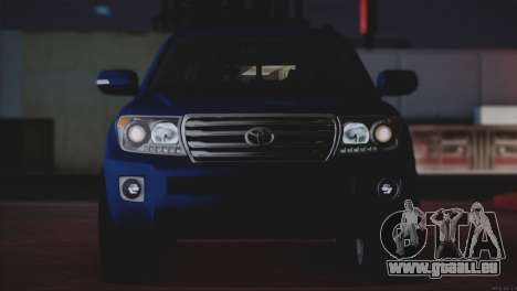 Toyota Land Cruiser 200 pour GTA San Andreas vue de dessous