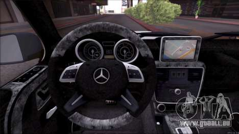Mercedes Benz G65 AMG 2015 Topcar Tuning pour GTA San Andreas moteur