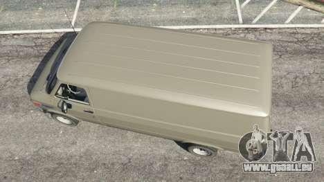GTA 5 Chevrolet G20 Van vue arrière