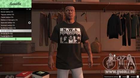GTA 5 Franklin Hip Hop T-Shirts achten Screenshot