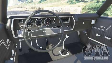 GTA 5 Chevrolet Chevelle SS 1970 v1.0 vorne rechts Seitenansicht