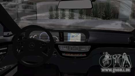Mercedes-Benz W221 pour GTA San Andreas sur la vue arrière gauche