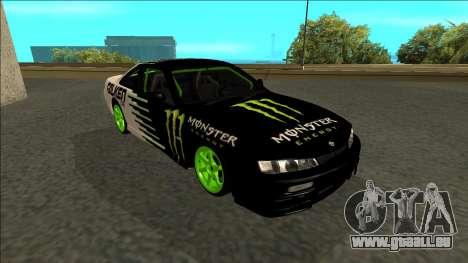 Nissan 200SX Drift Monster Energy Falken pour GTA San Andreas vue de côté