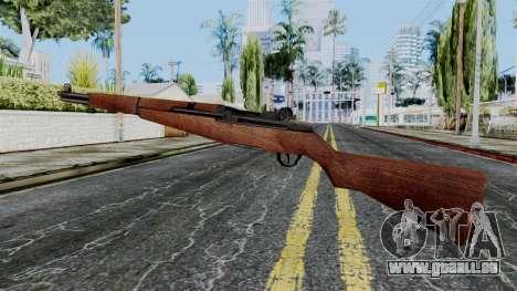 M1 Garand from Battlefield 1942 pour GTA San Andreas deuxième écran