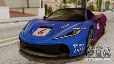 GTA 5 Progen T20 SA Style pour GTA San Andreas vue arrière