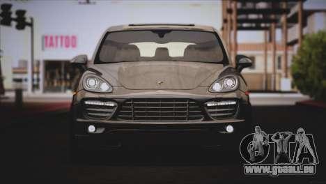 Porsche Cayenne Turbo 2012 pour GTA San Andreas vue de côté