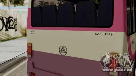BAZ A079.07 standard pour GTA San Andreas sur la vue arrière gauche