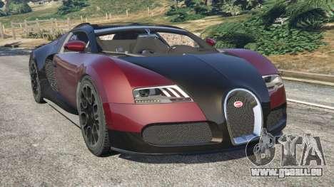 Bugatti Veyron Grand Sport v4.1 pour GTA 5