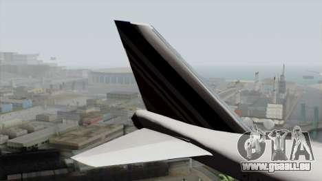 Boeing 747-200 Air France pour GTA San Andreas sur la vue arrière gauche