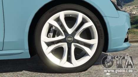 GTA 5 Audi A4 Avant 2013 arrière droit vue de côté