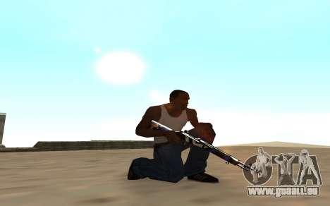 Fusil avec un bébé tigre pour GTA San Andreas deuxième écran