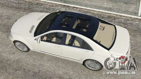 GTA 5 Mercedes-Benz S550 W221 v0.5 [Alpha] Rückansicht