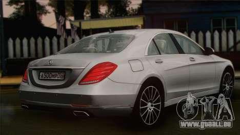 Mercedes-Benz S500 W222 pour GTA San Andreas laissé vue