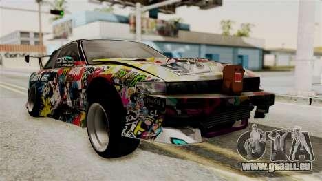 Nissan R13 pour GTA San Andreas laissé vue